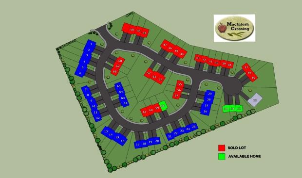 site plan of MacIntosh Crossing